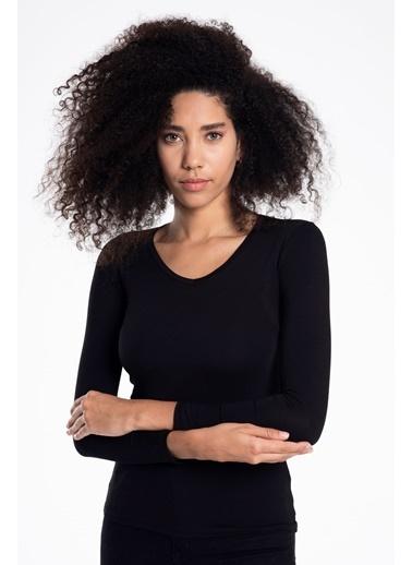 Tiffany&Tomato Uzun Kol Basic T-Shirt Siyah